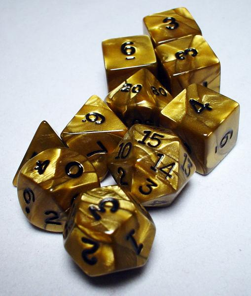 Koplow RPG Dice Sets: Gold/Black Olympic Polyhedral 10-Die Set