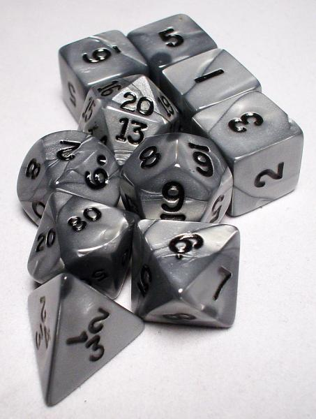 Koplow RPG Dice Sets: Silver/Black Olympic Polyhedral 10-Die Set