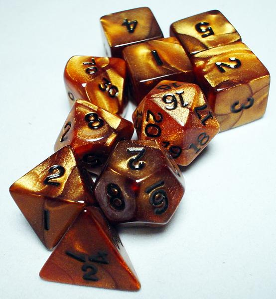 Koplow RPG Dice Sets: Bronze/Black Olympic Polyhedral 10-Die Set