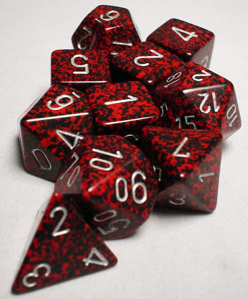 Koplow RPG Dice Sets: Silver Volcano Speckled Polyhedral 10-Die Set