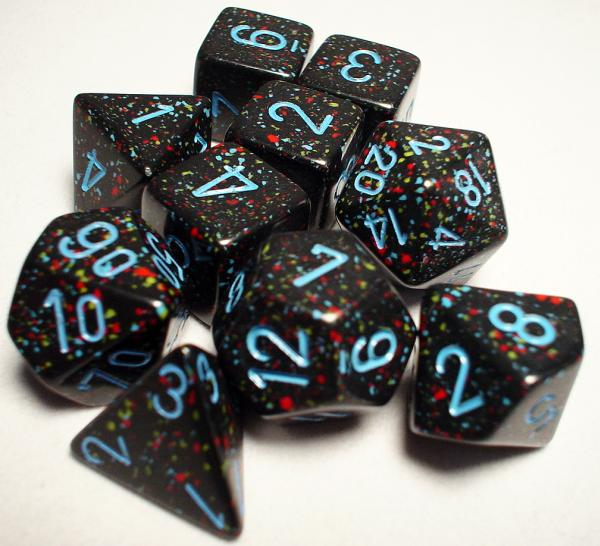Koplow RPG Dice Sets: Blue Stars Speckled Polyhedral 10-Die Set