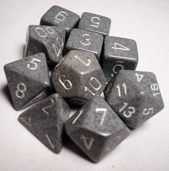 Koplow RPG Dice Sets: Hi Tech Polyhedral 10-Die Set