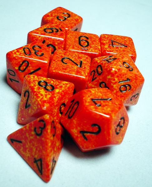 Koplow RPG Dice Sets: Fire Polyhedral 10-Die Set