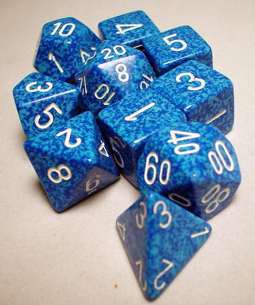 Koplow RPG Dice Sets: Water Polyhedral 10-Die Set