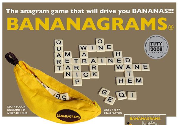 Bananagrams - The Anagram Game That Wil Drive You Bananas!