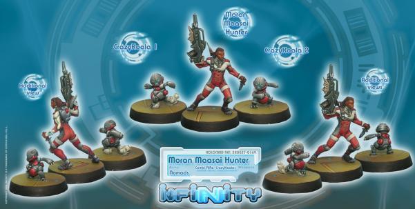 Infinity (#169) Nomads: Moran Maasai Hunter (Combi Rifle, CrazyKoalas) (3)