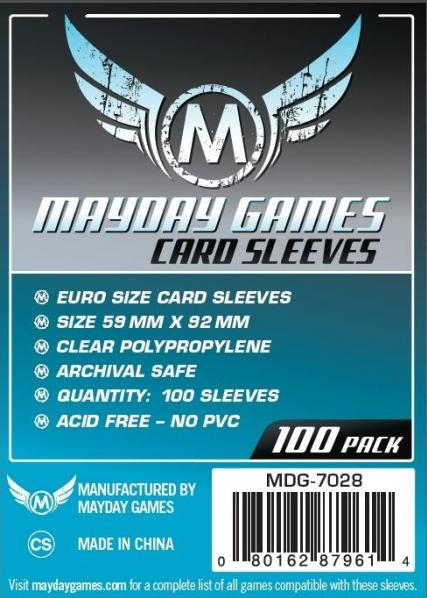 Silver Label: Euro Game Card Sleeves (100) 59mmx92mm