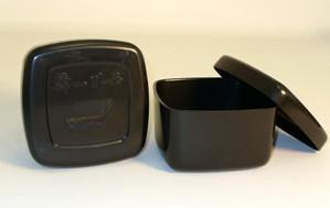 Black Plastic Go Bowls (2)