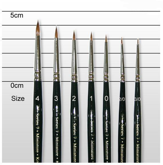 Series 7 Kolinsky Sable: Miniatures Brush #000