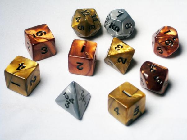 Koplow RPG Dice Sets: Assorted Olympic Polyhedral 10-Die Tube Set
