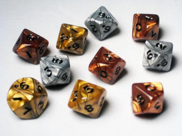 Koplow RPG Dice Sets: Assorted Olympic Polyhedral d10 (10)