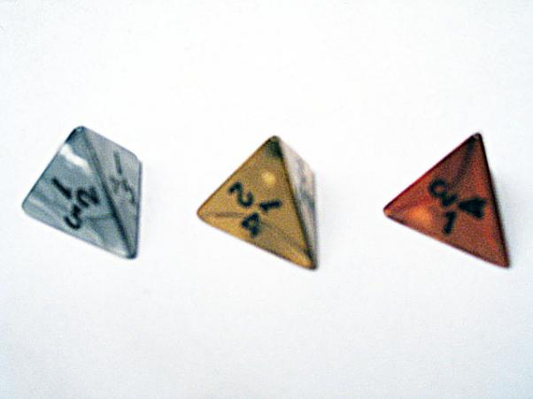 Dice Loose Singles: Assorted Olympic Random Polyhedral d4(1)