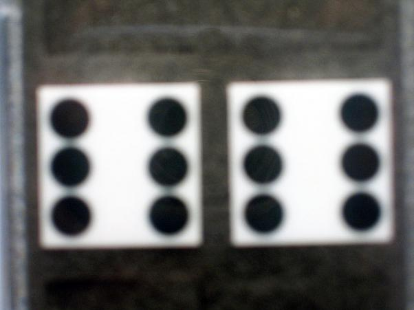Precision Casino Dice: 3/4'' White Standard Spotting 19mm (Pair of d6)
