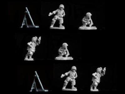Berlin or Bust: USA Paratroopers Medium Mortars (2 Mortars + Crew)