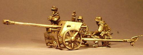 Artizan Designs WWII 28mm: German PaK40 Gun w/Crew (Winter) (3 and Gun)