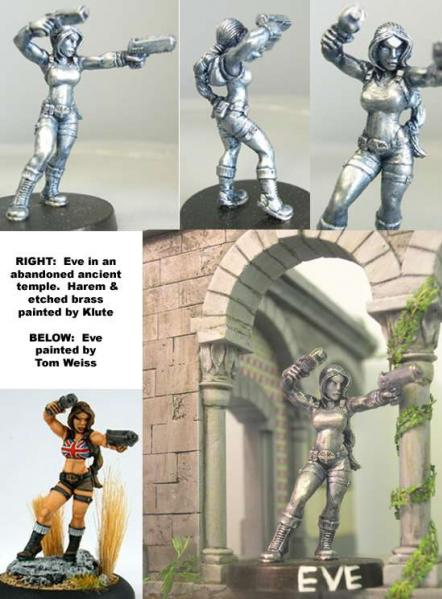 Hasslefree Miniatures: Adventurers (28mm) - Eve, pistol-packing archaeologist