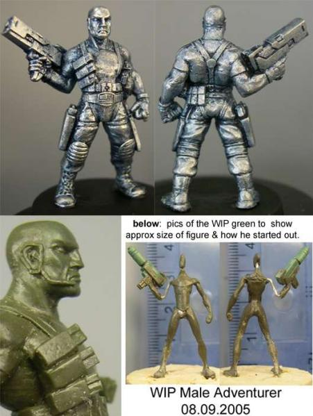Hasslefree Miniatures: Adventurers (28mm) - Grant, male survivalist
