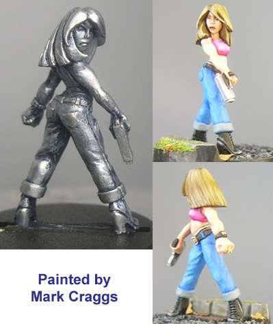 Hasslefree Miniatures: Adventurers (28mm) - Maria, petite female w/ pistol