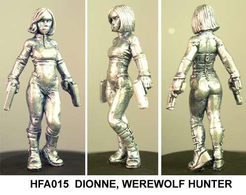 Hasslefree Miniatures: Adventurers (28mm) - Dionne,  werewolf hunter