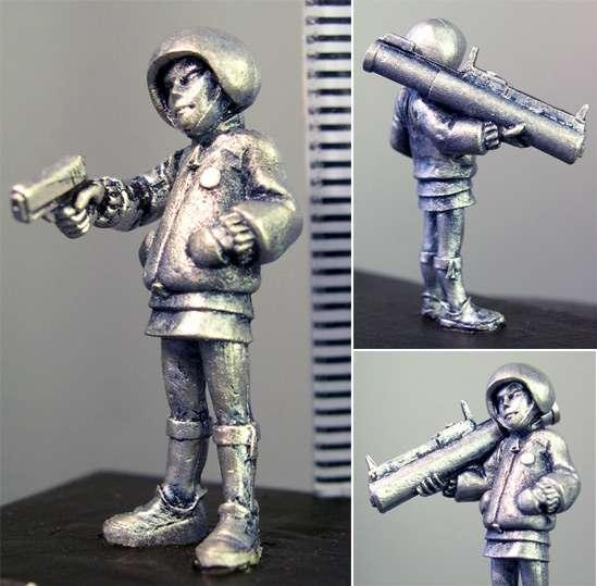 Hasslefree Miniatures: Adventurers (28mm) - Amoy (b) female youth w/ rocket launcher