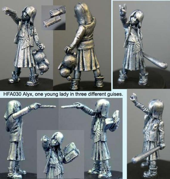 Hasslefree Miniatures: Adventurers (28mm) - Alyx (Rock Chick, Wizard & Misunderstood)