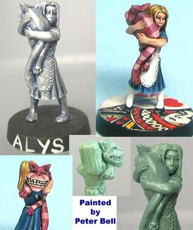 Hasslefree Miniatures: Humans - Alys and her pussy cat