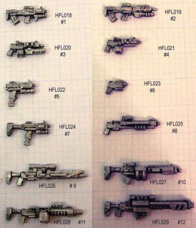 Hasslefree Miniatures: Little Bits! - CAD gun Variant #2 (sprue of four)