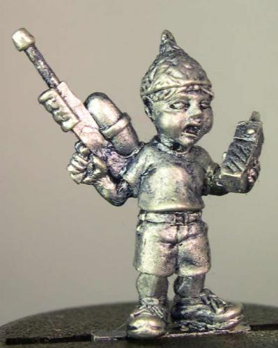 Hasslefree Miniatures: Civilians - Tom, child alien-hunter w/ water pistol