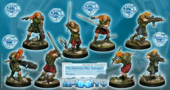 Infinity (#012) Ariadna: 45th Highlander Rifles ''Galwegian'' Boxed Set (4)