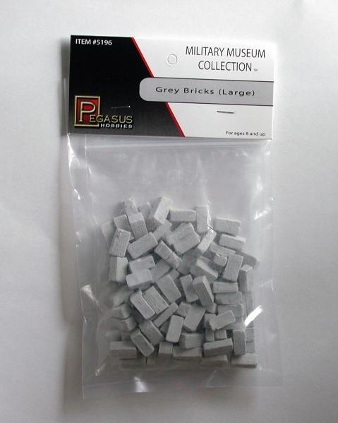 28mm Terrain: Large Grey Bricks