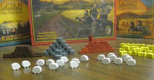 Game Accessories: Yucatan Wooden Token Set (Settler's of Catan)
