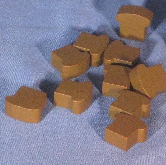 Game Accessories: Wooden Bread Token Set (10)