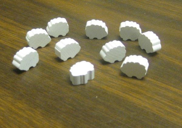Game Accessories: Wooden Sheep Token Set (10)