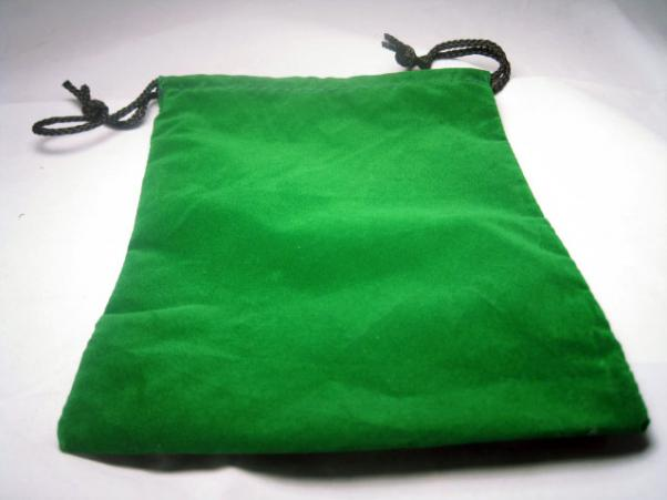Large Green Cloth Dice Bag (6''x9'')