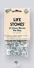 Gaming Counters: Clear Glass Life Stones (20)