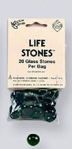 Gaming Counters: Emerald Glass Life Stones (20)