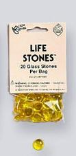 Gaming Counters: Yellow Glass Life Stones (20)