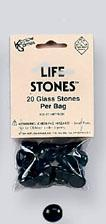 Gaming Counters: Black Glass Life Stones (20)