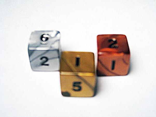Dice Loose Singles: Assorted Olympic Random 16mm d6 Numbered (1)