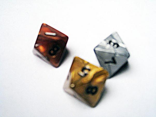 Dice Loose Singles: Assorted Olympic Random Polyhedral d8 (1)