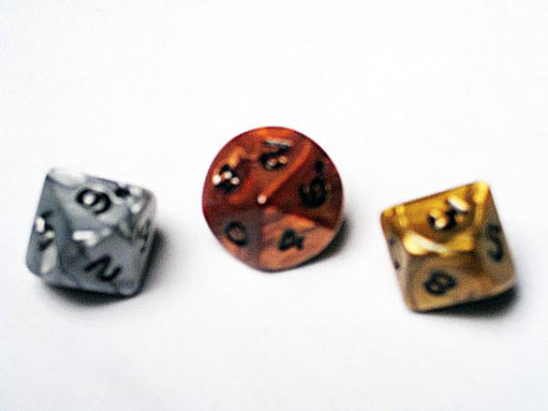 Dice Loose Singles: Assorted Olympic Random Polyhedral d10 (1)