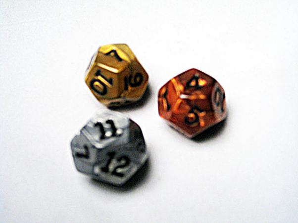 Dice Loose Singles: Assorted Olympic Random Polyhedral d12 (1)