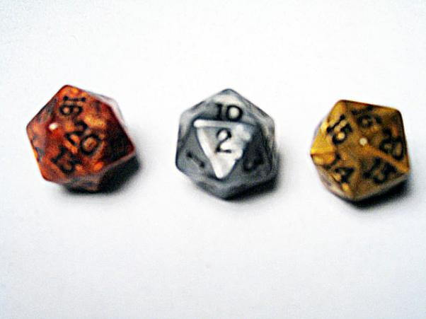 Dice Loose Singles: Assorted Olympic Random Polyhedral d20 (1)