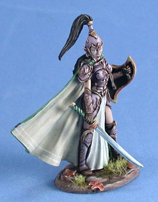 Visions In Fantasy: Female High Elf Warrior w/Sword & Shield