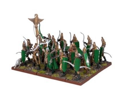 Kings Of War - Elves Bowmen Regiment (20)