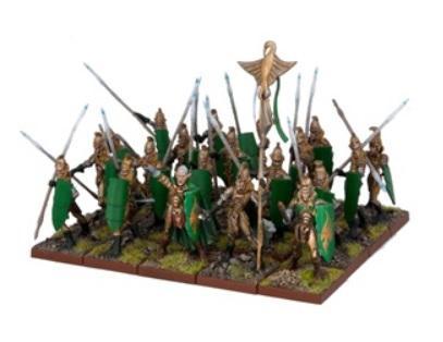 Kings Of War - Elves Spearmen Regiment (20)