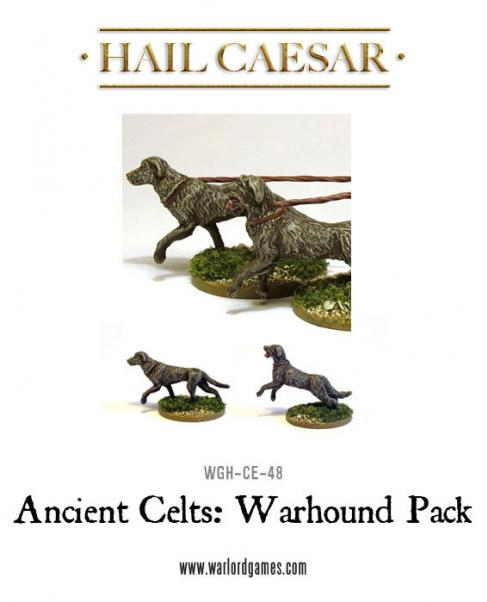 28mm Ancients - Celt Warhound Pack (4)
