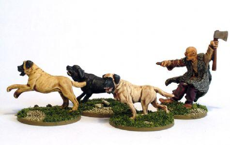 28mm Ancients - Celt Mastiff Pack (4)
