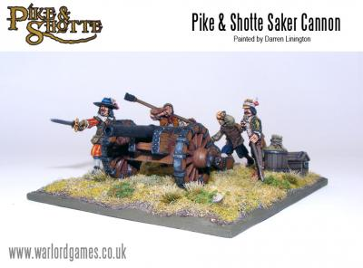 28mm Pike & Shotte - Saker Cannon + Crew