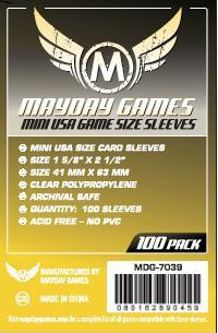Yellow Label: Mini USA Game Size Sleeves (100) 41mmx63mm